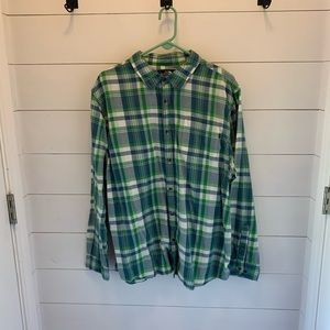 Men's XXL North Face flannel button down shirt.